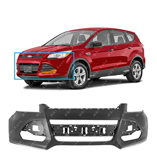 MBI AUTO - Primered, Front Bumper Cover Fascia for 2013-2016 Ford Escape 13-16, FO1000678 (Aftermarket Front Bumpers)