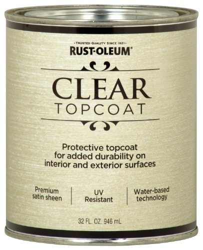 Rust-Oleum 253613 Metallic Accents Paint, Quart, Satin Clear