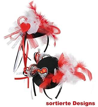 Mini-Hütchen mit Herz Glitzer Karneval Kostüm Accessoires