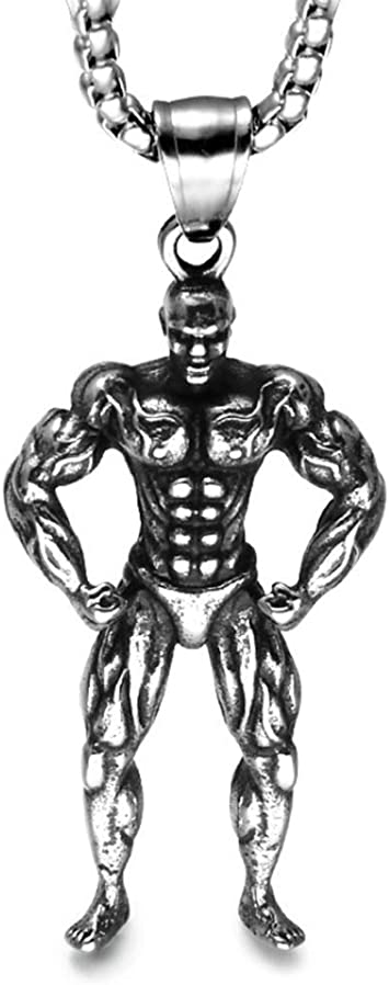 Collier en acier inoxydable pour hommes Bodybuilder