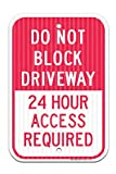 in the Ivy Don't Block Driveway 24 Hr. Access Required Federal Metal Signs 8 x 12 Rust Free Aluminum Tin Sign Office Store Public Warning Sign