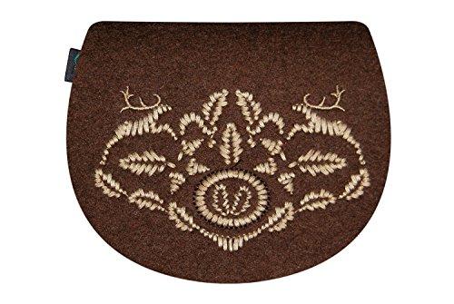 KringsFashion® - Bolso cruzados de Fieltro para mujer Marrón - marrón