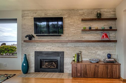 32'' Floating Shelf Heavy Duty Solid Steel Bracket- For 36'' + Shelves MADE IN THE USA! by Walnut Wood Works (Image #6)