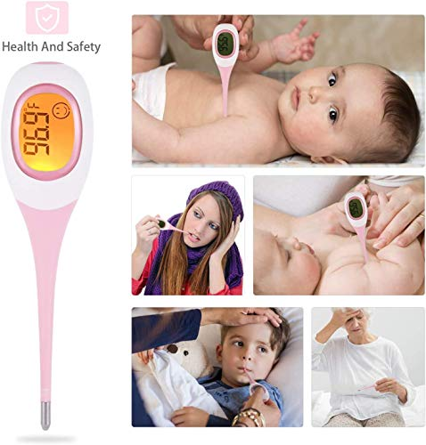 DOTOMP Digital Medical Body Thermometer, 8S Fast Reading Electronic Oral Rectal Temperature Meter for Adults Babies, LCD Armpit Thermometer with Fever Indication for Baby Fever Kids F°/°C Switchable
