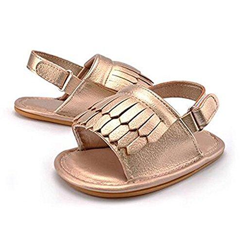 Niñas bebés Zapatos Antideslizante Bebé Primeros pasos Zapatos Oro