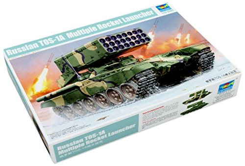 - Trumpeter Russian TOS1 24-Barrel Multiple Rocket Launcher Model Kit (1/35 Scale)