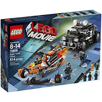 amazon com lego movie 70808 super cycle chase toys games