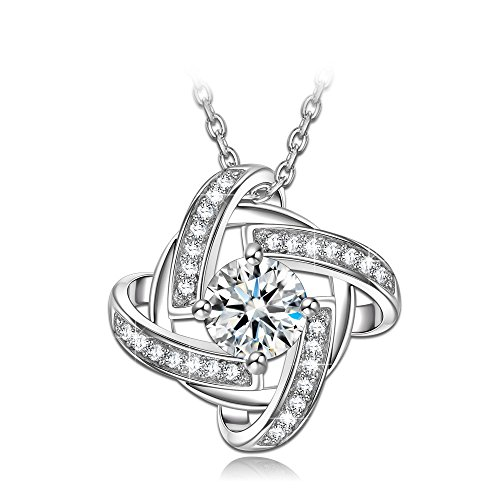 NINASUN Women Gifts on Christmas 925 Sterling Silver Necklace AAAA CZ Fine Jewelry for Her Anniversary Gifts for Wife Birthday Gift Idea for Mom Granddaughter Best Friend Halloween Gift for Teen Girls for $<!--$18.89-->