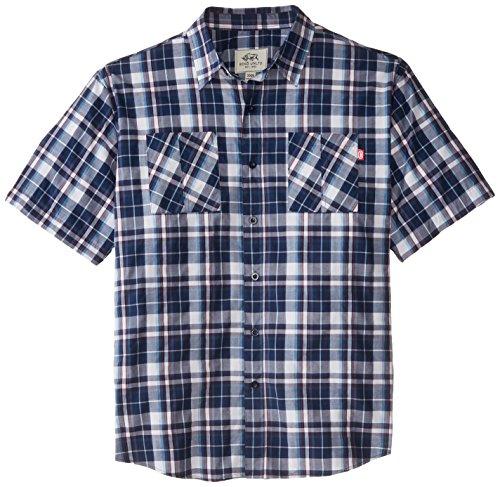 Ecko Unlimited Men's Big-Tall Danish Short Sleeve Woven Shirt, Navy, 3X/Big