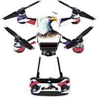 Skin for DJI Spark Mini Drone Combo - Eagle Head| MightySkins Protective, Durable, and Unique Vinyl Decal wrap cover | Easy To Apply, Remove, and Change Styles | Made in the USA