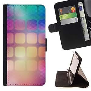 For Sony Xperia M4 Aqua Case , Cuadrados del papel pintado del color del gradiente- la tarjeta de Crédito Slots PU Funda de cuero Monedero caso cubierta de piel