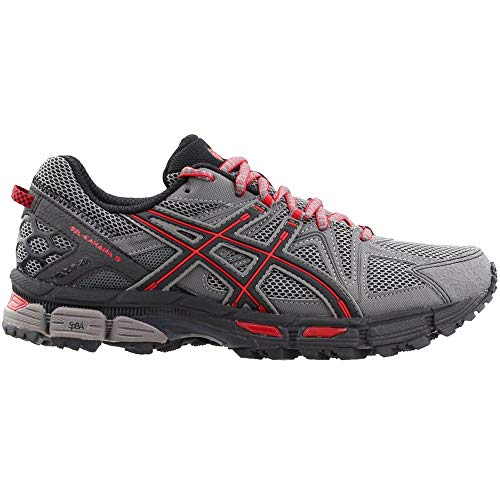 ASICS Men's Gel-Kahana 8 Trail Runner Shark/Black/True Red 7 M US by ASICS (Image #1)