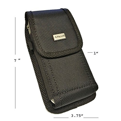 AIScell Metal Belt Clip Holster For Iphone 8 Plus, 7 Plus,6S/6 Plus ~Extra Large Ultra Rugged Pouch Nylon Canvas Case (Fit Phone With Lifeproof,Otterbox Defender,Battery Case,Thick Hybrid Cover) by AIScell