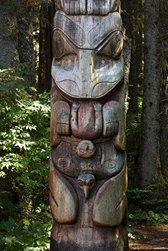 Posterazzi Poster Print Collection Tlingit Totem Pole Sitka National Historical Park Alaska Matthias Breiter, (20 x 28), Multicolored