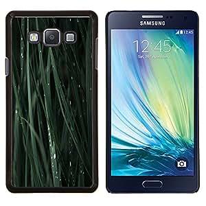 TECHCASE---Cubierta de la caja de protección para la piel dura ** Samsung Galaxy A7 ( A7000 ) ** --Verde Hoja Hierba Naturaleza Gota de rocío