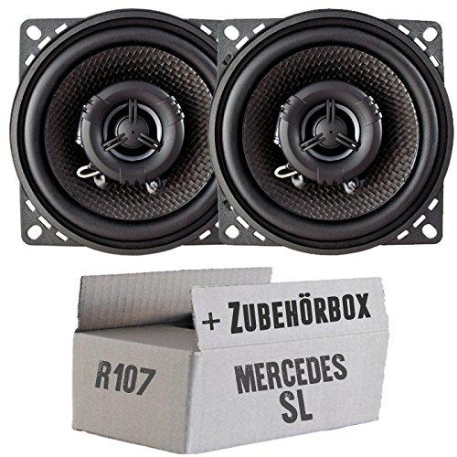 JUST SOUND best choice for caraudio Ampire CP100-10cm Lautsprecher 2-Wege Koaxialsystem Einbauset f/ür Mercedes SL R107 Front