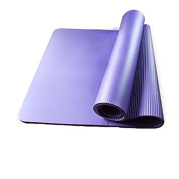 QFFL Tapete de Yoga/Rayas horizontales Antideslizante ...