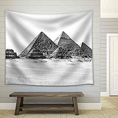 Charming Expertise, Premium Product, The Pyramids of Giza Cairo Egypt; The Oldest of The Seven Wonders of The Ancient World Fabric Wall