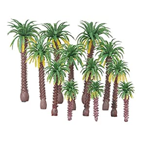 12 Multi Scale Rainforest Coconut Palm Tree Model Diorama Train Scenery HO N