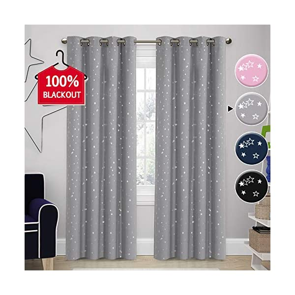 Niceday Hook Less Blackout Curtain Panels Treatment Thermal Insulated Solid Grommet 37 x 63 Inch Window Curtain Draperies for Bedroom 2 Pieces Panels Brown