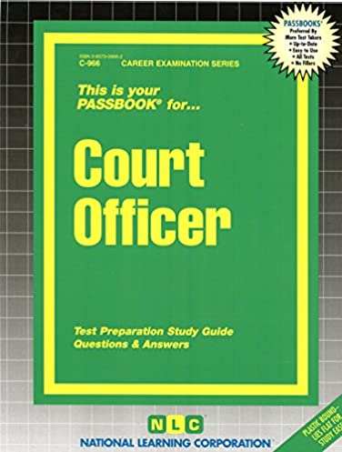 court officer passbooks career examination series jack rudman rh amazon com Study Guide Format Examples Study Guide