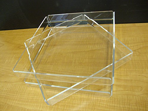 3 Acrylic Trays Cupcake Stand Pastry Bakery Donut Display