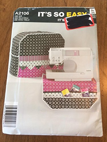 Sewing Book Covers (Simplicity A2106 Sewing Pattern, Sewing Machine Cover & Organizer, One)