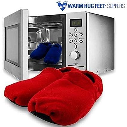 Zapatillas Microondas Warm Hug Feet: Amazon.es: Hogar
