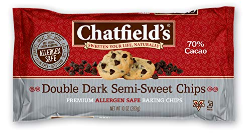 Chatfield's Allergen Friendly Double Dark Semi-Sweet Chocolate Chips 10 oz
