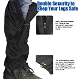 Unigear Waterproof Boot Gaiters High Leg Gaiters with...