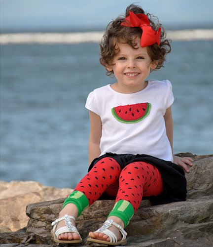 juDanzy toddler /& girls footless tights 4-6 Years, Watermelon