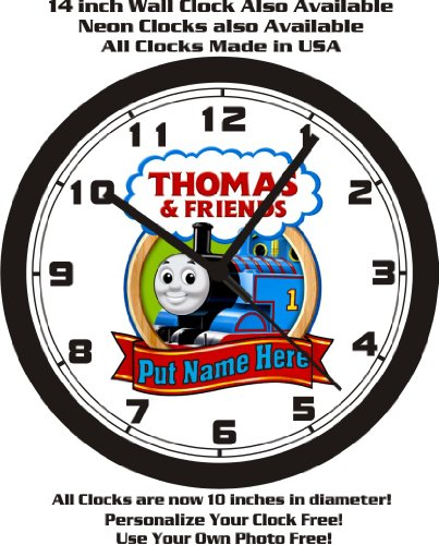 THOMAS & FRIENDS TRAIN WALL CLOCK-ADD NAME FREE+ FREE USA SHIP! ()