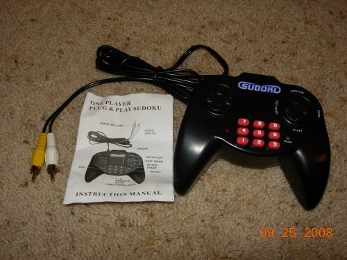 (Sudoku Plug & Play Game w/BONUS Sudoku Key Chain Game)