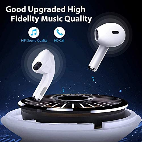 Wireless Earbuds, Bluetoooth 5.0 Headphones Headset [24H Cycle Playtime] in-Ear Wireless Headphones Hi-Fi Stereo Sweatproof Earphones Sport Headsets Built-in Mic Compatible with iPhone Airpods Android