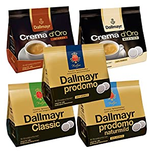 Maxi Dallmayr Coffee Set, 5, varieties prodomo Crema d Oro-Coffee ... | {Kaffeepadmaschinen 47}
