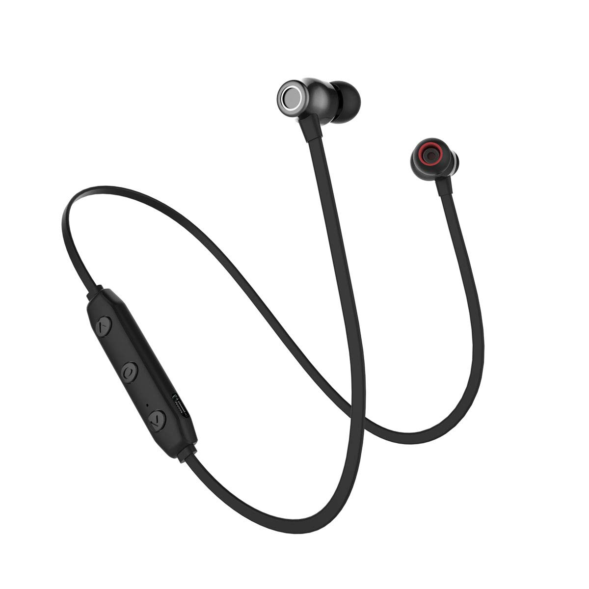 218e4c22163 Wireless Headphones Bass Earbuds with Mic Bluetooth V5.0 Noise Cancelling  in-Ear Sweatproof Earphones for Mens Sports Headsets Lightweight Portable  Gym ...