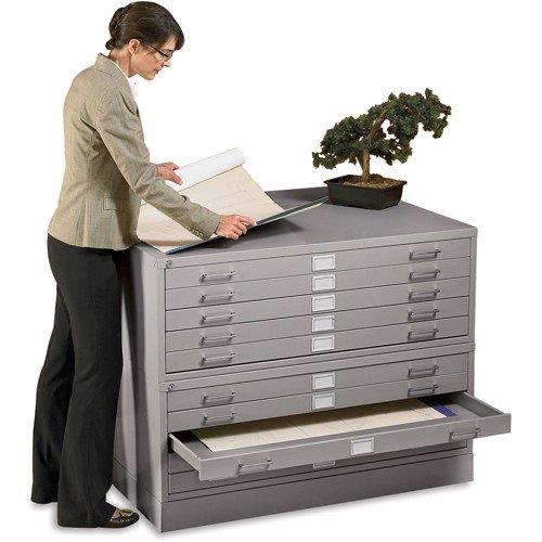 Flat File Cabinet, Gray, Steel by EDSAL