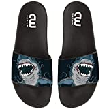 Cartoon Dangerous Shark Summer Slides Slippers For Boy Girl Indoor Outdoor Beach Sandal Shoes size 2