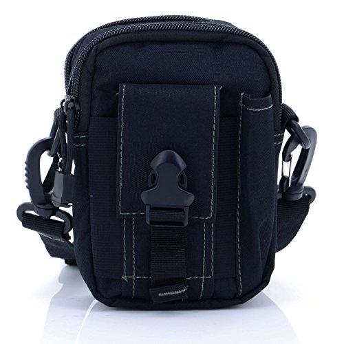 Black Toughskin Case - liangdongshop Multipurpose Tactical EDC Utility Gadget Pouch Molle Waist Bag Smart Phone Holster(With Strap-Black)