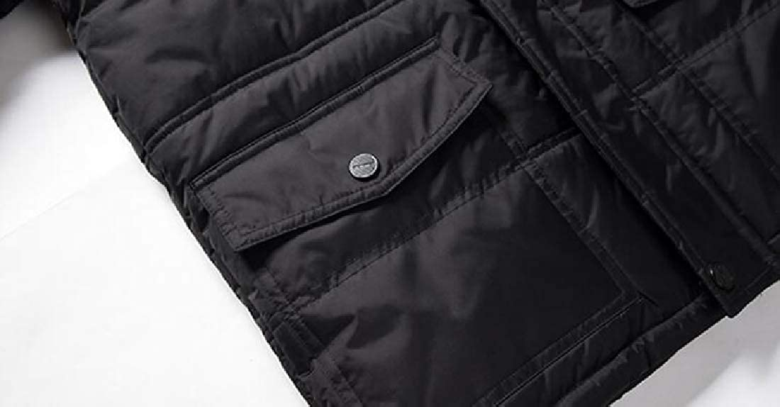 1 Alion Men's Jacket Thicken Puffer Down Jacket Jacket Jacket Thicken Hood Down Jacket c22bb3