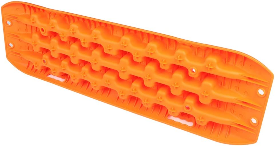 Aintier 10 Ton Traction Tracks,2 Pcs Orange Traction Tracks Mat Recovery for Sand Mud Snow Tire Ladder 4X4