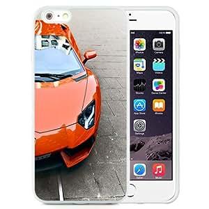 Fashionable Custom Designed iPhone 6 Plus 5.5 Inch Phone Case With Red Lamborghini Aventador_White Phone Case