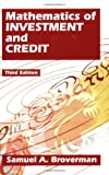 Mathematics of Investment and Credit, Broverman, Samuel A., 1566984750