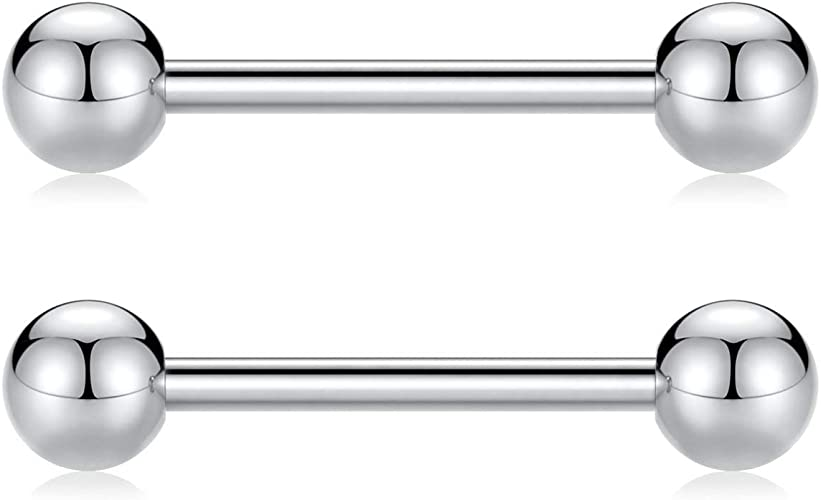 Amazon Com Peaklink 12g G23 Titanium Nipple Barbells Internally