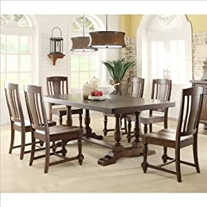 Riverside Furniture Newburgh 7 Piece Dining Table Set In Antique