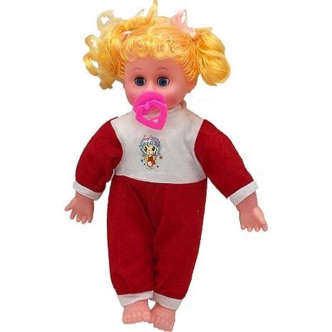 tianranrt Baby Sonido muñeca juguete Chupete Rubio muñeca ...