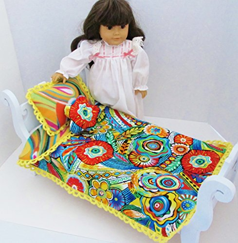 REVERSIBLE COMFORTER 3 pc SET FIT AMERICAN GIRL & OTHER 18