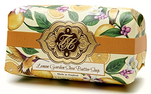 - Lemon Citrus, Luxury Large Oversized, Beautifully Scented, Shea Butter Soap Bar, Made in England, Triple Milled. Environmentally Friendly (Green). 8.0oz.SAVE by ordering
