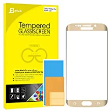 """S6 Edge Plus Screen Protector, JETech® 0.2mm Thinnest Full Screen 5.7"""" Premium Tempered Glass Screen Protector Film for Samsung Galaxy S6 Edge Plus + (Gold)"""