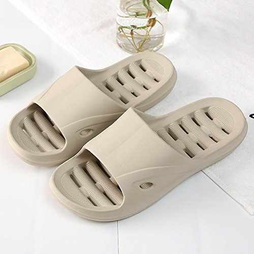 fankou The Bathroom Slippers Summer Female Couples in Your Living Room. Soft, Non-Slip Shower Exposed Fast Dry Water Bath Cool Slippers Men and,40-41, Card Its